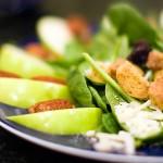 apfel-spinat-salat